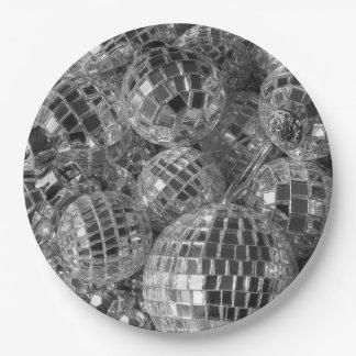 Disco Ball Ornaments 9 Inch Paper Plate
