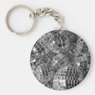 Disco Ball Ornaments Basic Round Button Keychain