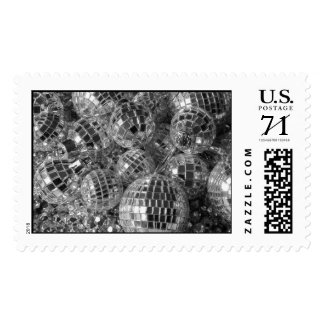 Disco Ball Ornaments – Large Postage Stamp