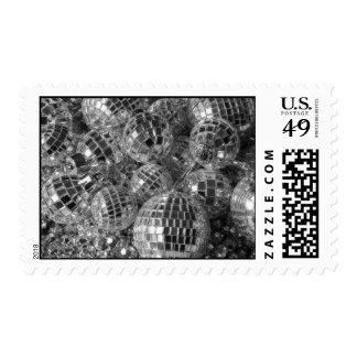 Disco Ball Ornaments – Medium Postage Stamp
