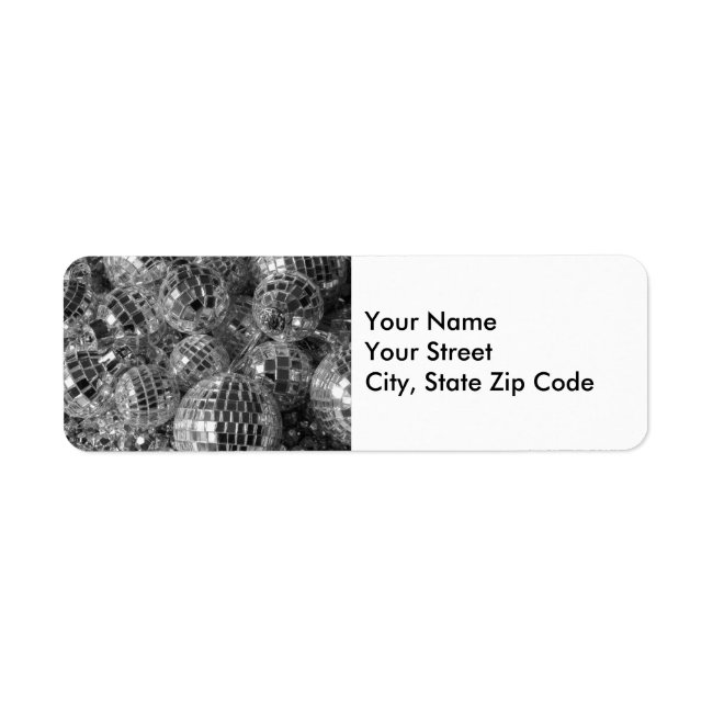 Disco Ball Ornaments return address label
