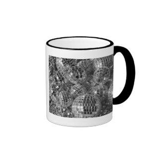 Disco Ball Ornaments Ringer Coffee Mug