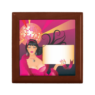 Disco Ball Party Sign Jewelry Box