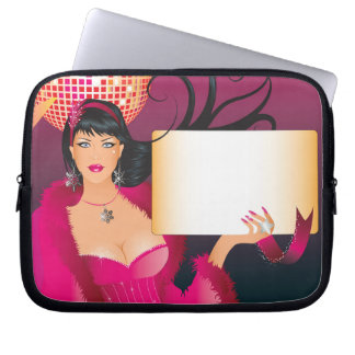 Disco Ball Party Sign Laptop Sleeve