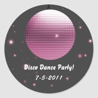 Disco Ball Party Stickers sticker