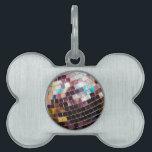 """Disco Ball Pet ID Tag<br><div class=""""desc"""">Close up of Mirrored Disco Ball</div>"""