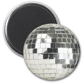 disco ball photo 2 inch round magnet