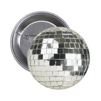 disco ball photo pinback button