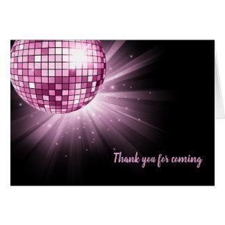 Disco ball pink card