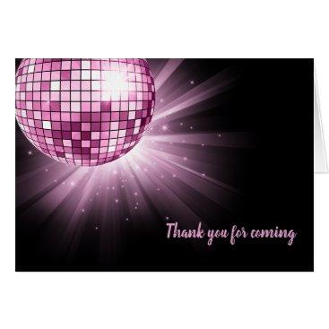 Wedding Themed Disco ball pink card