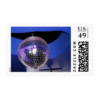 Disco ball postage stamp