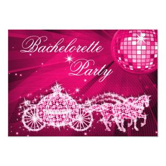 Disco Ball, Princess Coach & Horses Bachelorette Card