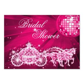 Disco Ball, Princess Coach & Horses Bridal Shower Card