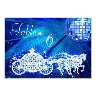 Disco Ball, Princess Coach & Horses Double Sided Card