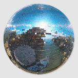 disco ball round stickers