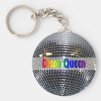 Disco Ball Shiny Silver   Disco Queen Retro 80s Keychain