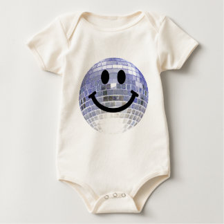 Disco Ball Smiley Baby Bodysuit