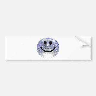 Disco Ball Smiley Car Bumper Sticker