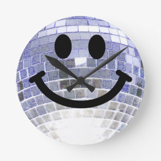 Disco Ball Smiley Clock