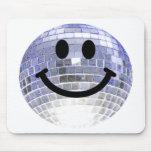 Disco Ball Smiley Mouse Pad
