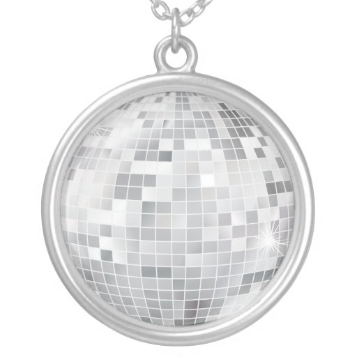 Disco Ball Sterling Silver Chain Personalized Necklace