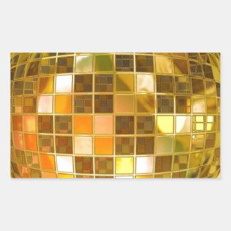 Disco Ball Rectangular Sticker