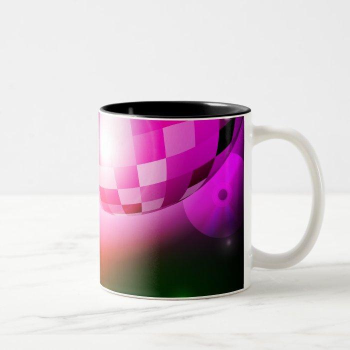 Disco Ball Two-Tone Coffee Mug
