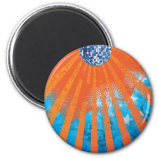 Disco Ball Universe ~ Retro 80s 1980s 2 Inch Round Magnet