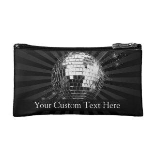 Disco Ball w/Black Background Cosmetic Bag