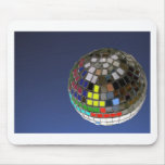 disco ball with copy space mousepads