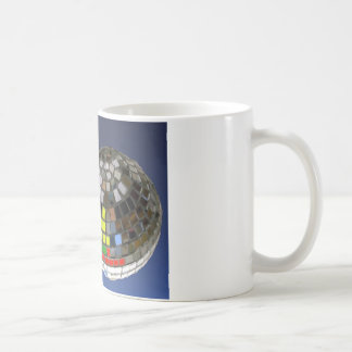 disco ball with copy space mugs