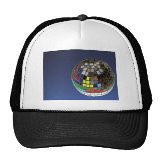 disco ball with copy space trucker hat