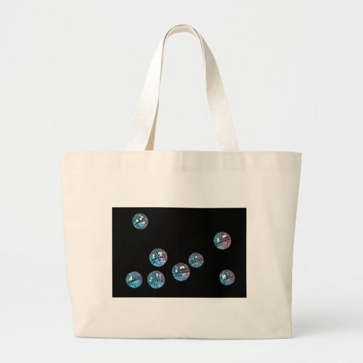 disco balls in empty space canvas bag