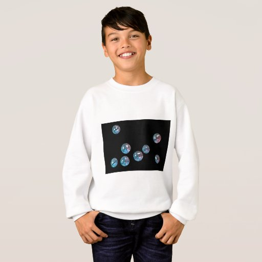 disco balls in empty space sweatshirt