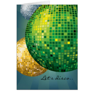 Disco Balls New Year Party Card