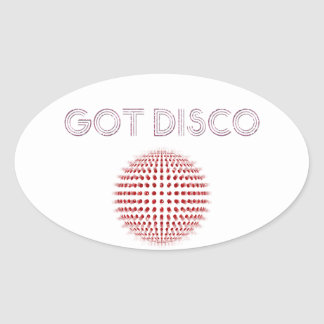Disco Balls Sparkles! Oval Sticker