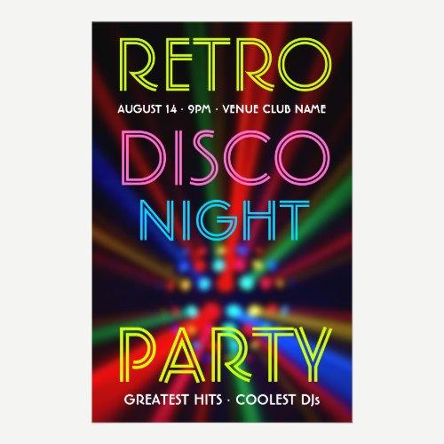 Disco Beams Lights Clubbing DJ flyer