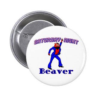 Disco Beaver Button