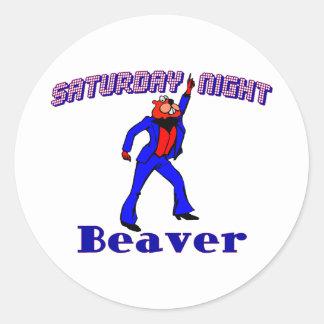 Disco Beaver Classic Round Sticker