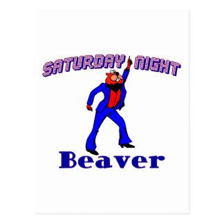 Disco Beaver Postcard