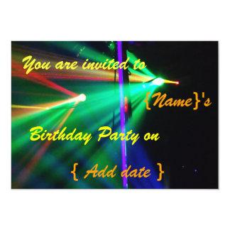 Disco Birthday Party  Invitation 2