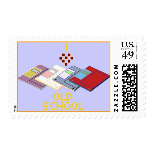 disco blando de la escuela vieja sellos postales
