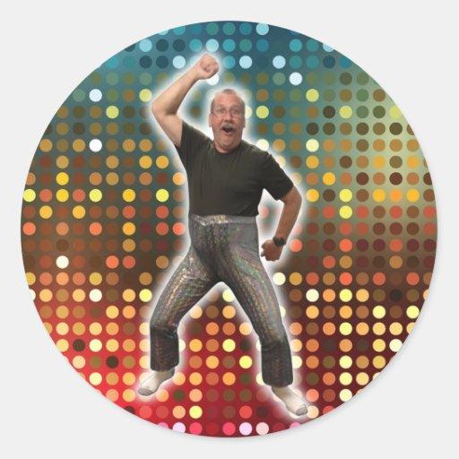 Disco Bob pequeño square.jpg Pegatina Redonda