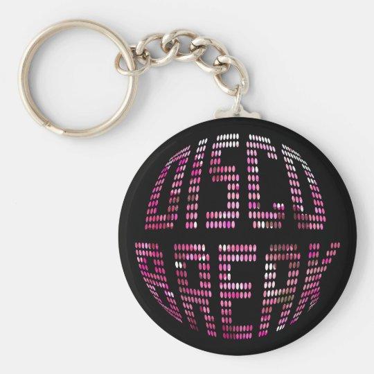 Disco Break Pink Keychain
