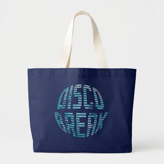Disco Break Turquoise Black Jumbo Tote Bag