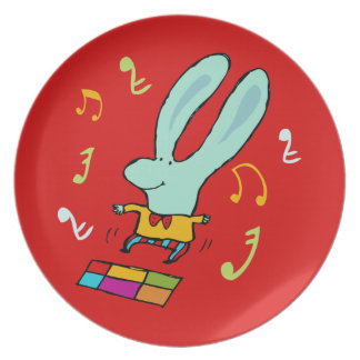Disco Bunny Party Plate