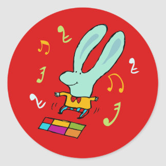 Disco Bunny Party Stickers