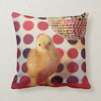Disco Chick Throw Pillow