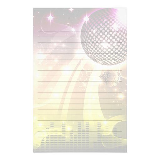 disco cityscape light customized stationery