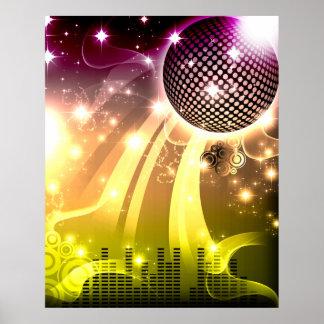 disco cityscape poster